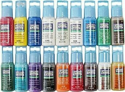Plaid GALLERY GLASS - BULK WINDOW COLOR 20x Colours - 59ml Paint Stained Effect