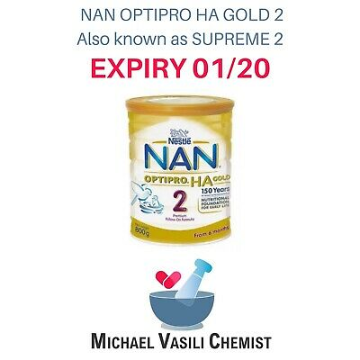 NAN OPTIPRO HA Gold Supreme 2 Premium Nutritional Milk Formula Supplement  800g