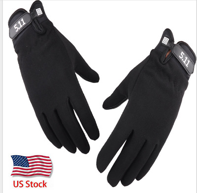 Military Tactical Gloves Full Finger Shooting Hunting Motorcycle Gloves Black