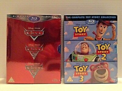 The Toy Story Complete Collection & Cars trilogy (Blu-ray) *NEW*