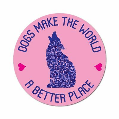Better Place Sticker Decal Love Paw Woof Animals Pet Dogs Cats