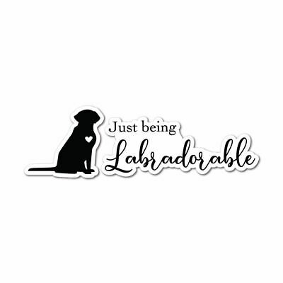 Labradorable Sticker Decal Love Paw Woof Animals Pet Dogs Cats