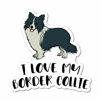 Border Collie Sticker Decal Love Paw Woof Animals Pet Dogs Cats