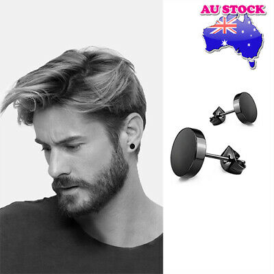 Wholesale 316L Surgical Steel Titanium Anodized Flat Round Barbell Stud Earrings
