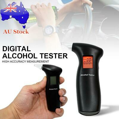 Digital Breath Alcohol Tester Breathalyzer Analyzer LCD Detector Backlight AU