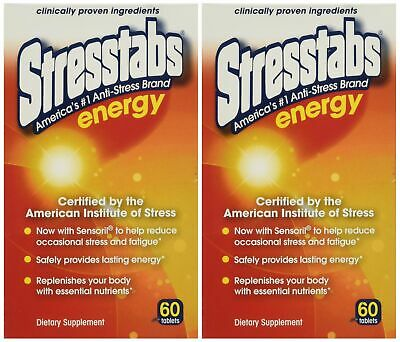 2x 60tabs Reduce Stress, Provides Lasting Energy, Dietary Supplements,Stresstabs