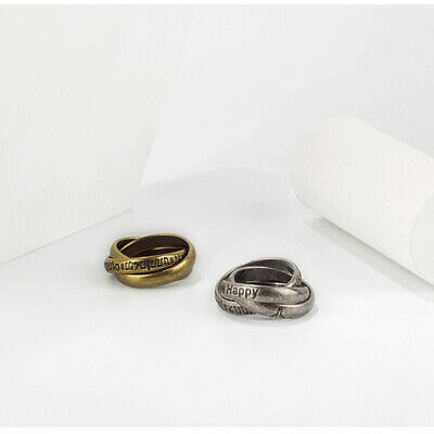 Personality fashion 3-ring set ring Vintage ring for Lovers Free Happy With Note