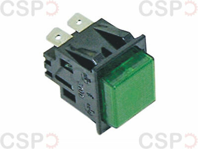 Push Switch Mounting Measurements 27.2X22.2Mm Green 2No 250V 16A Illuminated