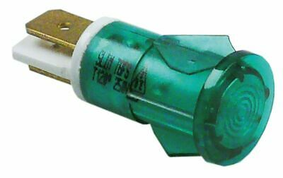 Indicator Light D 12Mm Green 230V Connection Male Faston 6.3Mm