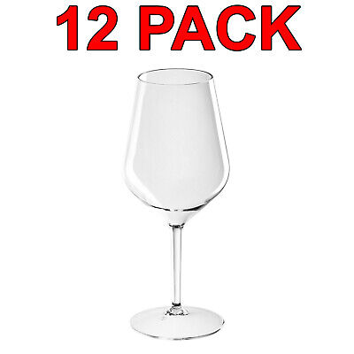 Eco-Friendly Reusable Plastic Tritan Wine Glass Glasses Catering 510ml 12 Pack