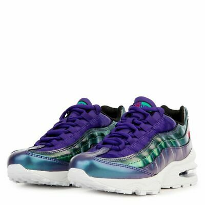 Youth Kids Girls Nike Air Max 95 SE GS Trainers Shoes Purple Pink AJ1899 500