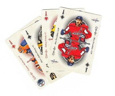 OPC O-Pee-Chee 2018-19 Complete Playing Cards Set (52) (2 to A) with all 4 ACES