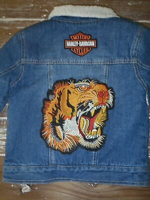 Levis Sherpa Jacket Boys Size 6 (5-6 Years) Harley Davidson, Tiger, Brand New!