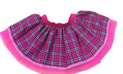 Neon Pink Kilt Tartan Tutu Skirt Punk Goth 80s Fancy Dress Costume Hen Party