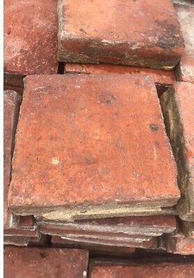 "Reclaimed Victorian  Quarry Floor Tiles Red 6"" x 6"" x 1.5"" roughly 1000 tiles"