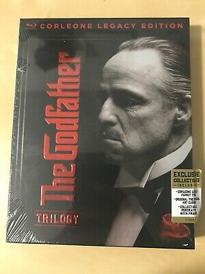 The Godfather Trilogy: Corleone Legacy Edition Blu-Ray New Free Shipping