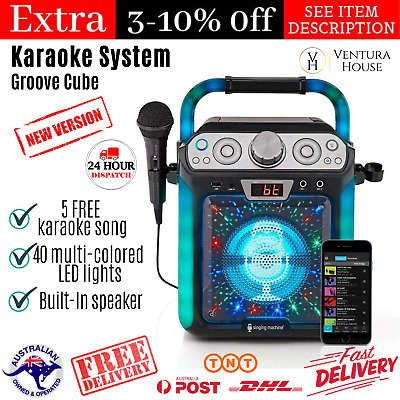 Singing Machine Groove Cube CDG Complete Karaoke Systems Bluetooth USB w/ MIC
