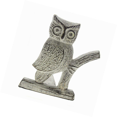 Cast Iron Owl Door Stop | Decorative Stopper Wedge | with Padded Anti-scratch Fe