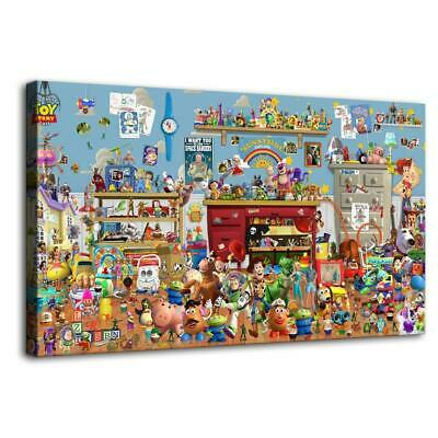 all toy story characters HD Canvas prints Home Decor Wall art picture 12X22inch