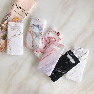 For Samsung Galaxy S10e S10+ S9 S8 Matte Marble Pattern Soft Silicone Case Cover