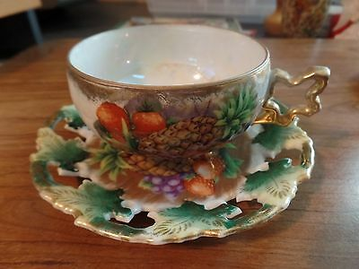Royal Sealy Bone China Tea Cup & Saucer-Japan  #2122