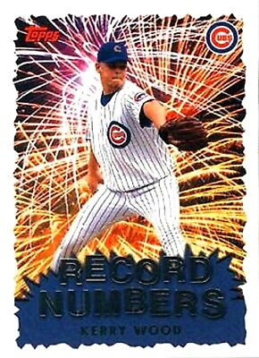 1999 Topps Record Numbers Insert #RN7 Kerry Wood Chicago Cubs