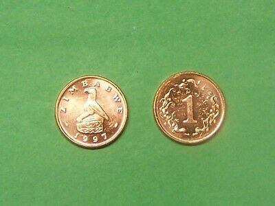 ZIMBABWE  1997  CENT    KM1a  UNCIRCULATED COIN