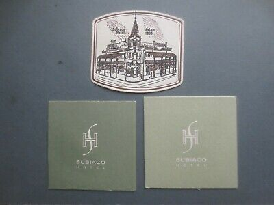 3 diff SUBIACO HOTEL. Western Australia 1970,s,Issued Coasters