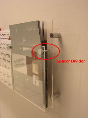 Brochure Holder Spacer Divider Pin Fitting Hardware for Brochure Holder Signage