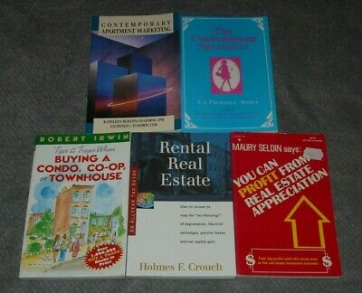 Lot of Five Real Estate Books~All In Xlnt Clean Cond.~Rentals~Apartments~Invest