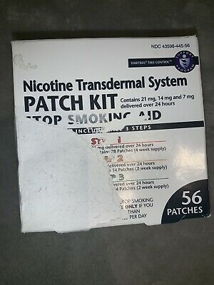 1 Box Nicotine Transdermal System Patch Stop Smoking Aid Kit, 56 Counts 05/19