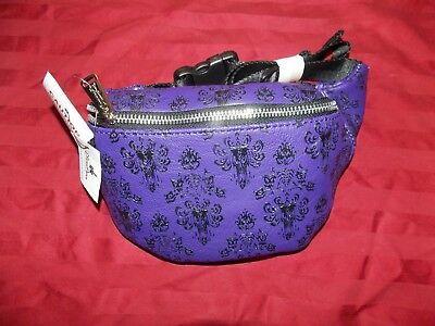 Disney Parks Loungefly Haunted Mansion Wallpaper Print Hip Fanny Pack 2018  New