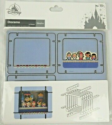 Disney Parks It's a Small World Paper 3D Diorama Set New in Sealed Package