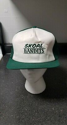 bc90cfd90 VINTAGE SKOAL BANDIT Mesh Snapback Trucker Hat Cap Patch Made In USA ...