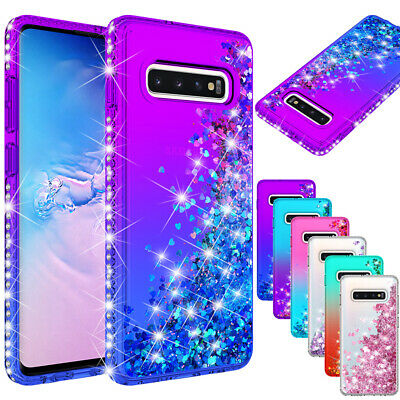 For Samsung Galaxy S9 S10 5G Plus + Note 9 Luxury Cute Diamond Bling Case Cover