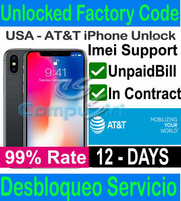 AT&T USA Unbarring Clean Service  iPhone, Samsung, LG