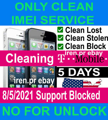 T-MOBILE IMEI CLEAN & FIX SERVICE IPHONE 11 6/7/8/X/XS Max & SAMSUNG unbarring