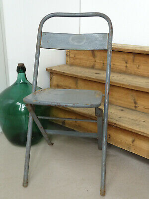 U0157 Old Biergartenklappstuhl Metal ~ Sssm ~ Beer Garden Chair~Folding Chair