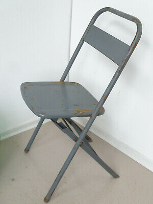 U0171 Old Biergartenklappstuhl Metal ~ Sssm ~ Beer Garden Chair~Folding Chair