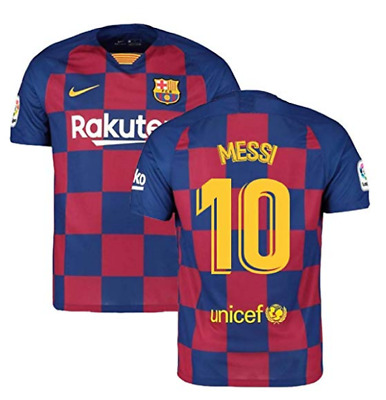 Lionel Messi #10 FC Barcelona Soccer Home Jersey 2019/2020 Men Size Up 4XL