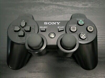 Playstation 3 Black Dualshock 3 Wireless Sixaxis Controller - 100% Authentic!!!!
