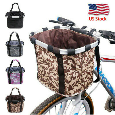 Lixada Bicycle Front Basket Folding Removable Bike Handlebar Basket Pet Cat D4Y3