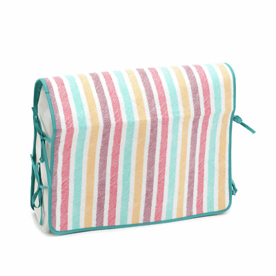 Multicolour sketch stripe Sewing Machine Cover - soft quilted with tie fastening