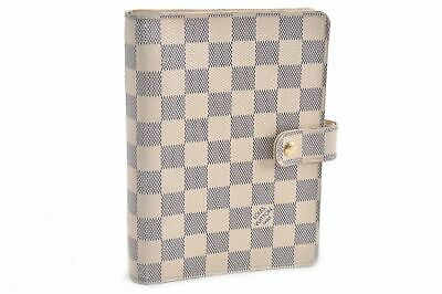 Authentic Louis Damier Azur Agenda MM Day Planner Cover R20707 LV 79215