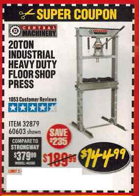 HARBOR FREIGHT 20% off discount coupon online or in store zz - $0 99