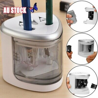 Dual Hole Electric Automatic Pencil Sharpener School Stationery Battery Operated