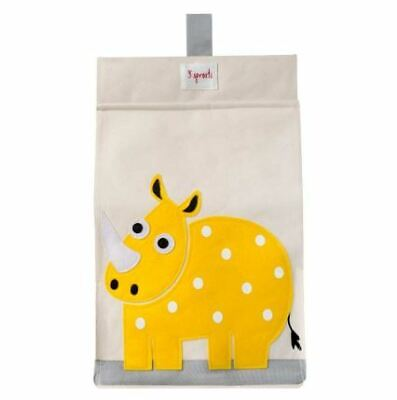 3 Sprouts Diaper Stacker - Yellow Rhino