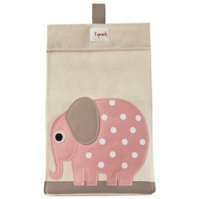3 Sprouts Diaper Stacker - Pink Elephant