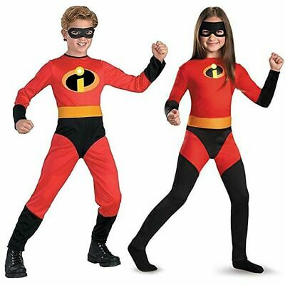 Kids Boys Girls The Incredibles Cosplay Costume with Mask Size 3-10 Years