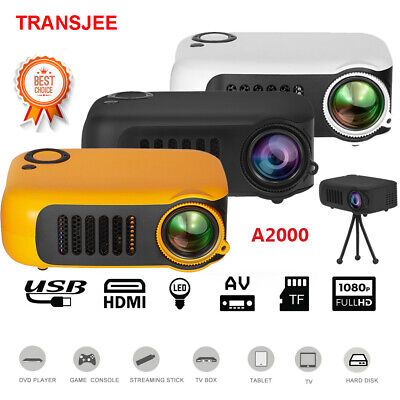 Mini Portable Pocket Projector HD 1080P LCD Home Theater Video Projector HDMI